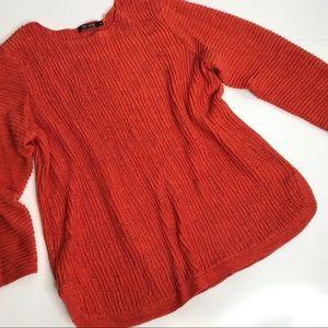 Women XL Burnt Orange NIC&ZOE scoop neck sweater
